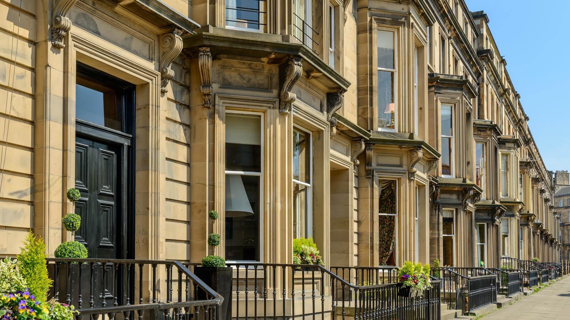 Drumsheugh Gardens in Edinburgh new town